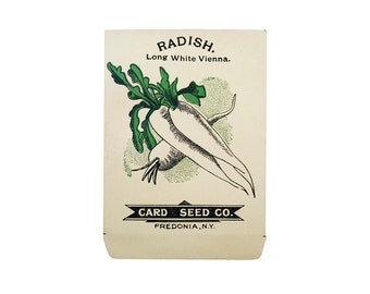 antique 1900s litho card seed co. long white vienna radish packet