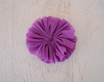 CLEARANCE  5 Fuchsia Chiffon Flowers