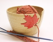 Red Maple Yarn Bowl, Maple Leaf Yarn Bowl, Yarn Bowl