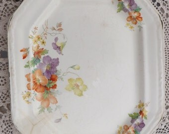 Edwin Knowles Oval Platter With Floral Spry