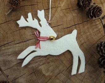 Reindeer Gift Tag, Christmas Gift Tag, Reindeer Parcel Tag, Reindeer Christmas Ornament, Scandinavian Christmas Decor, Christmas tree decor