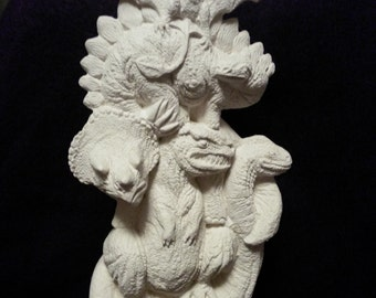 Dinosaur stack- five different dinosaurs-ceramic bisque-for you to paint