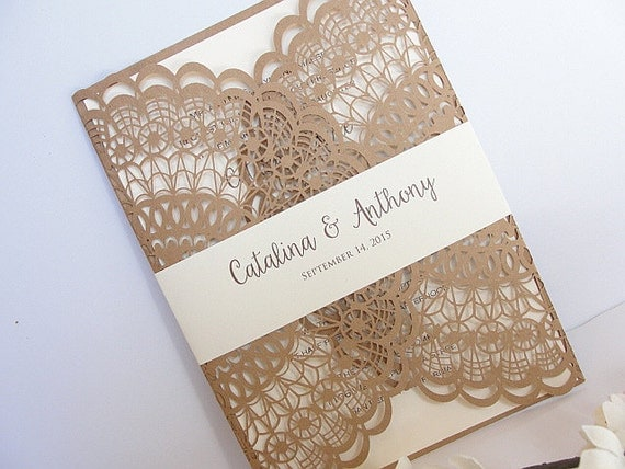 Laser Cut Wedding Invitation Doily Laser Cut Wedding Invite