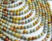Sky eye Jasper - 6 mm round beads -1 full strand - 64 beads - A quality - RFG331