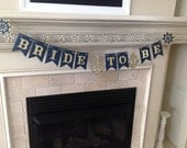 Banner Gold and Blue Nautical Bride To Be Banner. Bride to Be