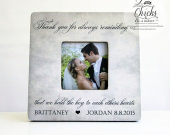 Thank You Gift for Parents Picture Frame, Personalized Parent Wedding Thank You Frame, Thank You Wedding Party Gift