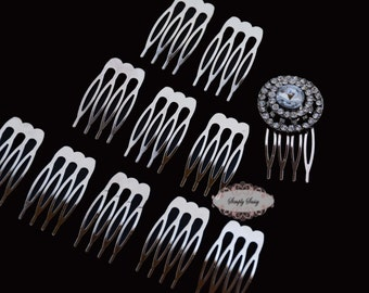 5 Metal Hair Combs -  DIY - Wedding Hair Combs - Bridal Hair Combs