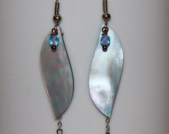 Pretty in Pearl - Long feminine dangle earrings