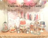 REMAINING BALANCE Custom listing for Claire: Boutique Custom Princess Tea Party /Tea Pot Invitations Set of 60 for Baby shower