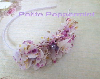 Baby headband, toddler headband, little girl headband, girl headband, toddler hard headband - Lavender Flower Headband