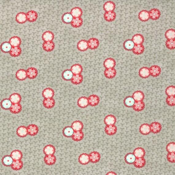 Ruby Retro gray Bonnie & Camille moda fabric FQ or more