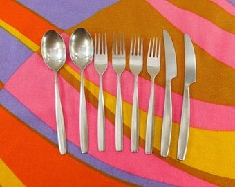 8 Pcs. Hackman Finland CARELIA Stainless Flatware Items- Fork Spoon Knife