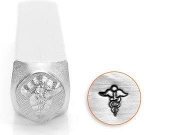 Medical Symbol ImpressArt- 6mm Metal Design Stamp-Perfect for Your Hand Stamping Needs-Steel Stamps
