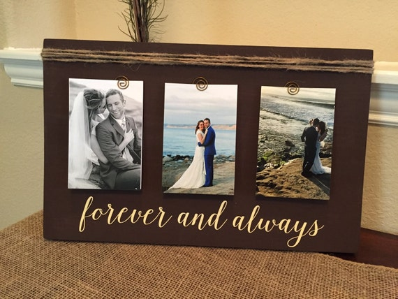 Wedding Gift For Fiance: Personalized Picture Frame For Husband Wife Girlfriend