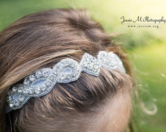 Flowergirl - Girls Headband - Baby Headband - Newborn Headband - choice of colors
