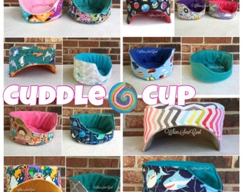 CUSTOM Cuddle Cup! Great for small animals like hedgehogs and guinea pigs!