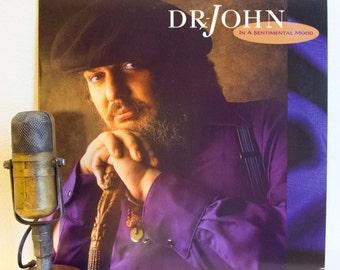 "Dr. John (a.k.a. Mac Rebennack) Vinyl Record Album Lp 1980s Big Band Jazz Swing R&B ""In A Sentimental Mood"" (1989 Wb w/""Makin' Whoopee"")"