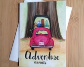 Adventure Awaits - Blank Greeting Card