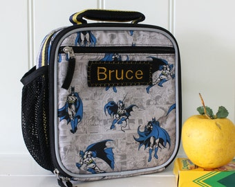 Batman Kids Lunch Box Personalized (Pottery Barn) -- Allover Batman