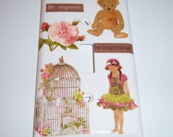 Victorian Inspired Single Lightswitch Cover