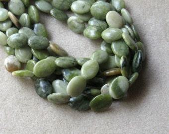 Serpentine Beads, Gemstone Beads, Craft Supplies, Jewelry Making Beads, Green Serpentine, Full Strand, Bead Supplies, Jewelry Supplies