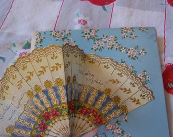 three lovely vintage greeting cards
