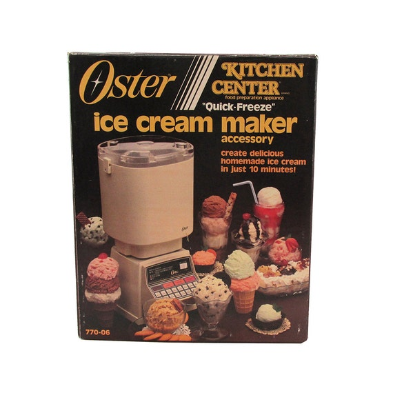 Oster Countertop Ice Maker : 1980s Oster Kitchen Center Ice Cream Maker Attachment