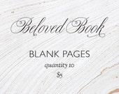 Custom Beloved Book pages - blank
