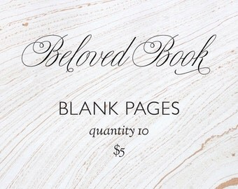 Custom Beloved Book pages - blank