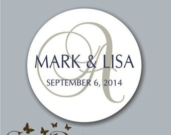 Custom Wedding Stickers, Personalized Wedding Labels, Favor labels stickers