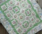 Baby Quilt, Peter Rabbit Nursery, Beatrix Potter Quilt, Gender Neutral Baby Quilt, Unisex Baby Shower Gift
