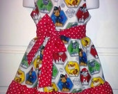 Sleeveless Summer Dress Paw Patrols Rocky, Marshall, Chase, Rubble Boutique 12/18M 24M/2T 3T/4T 5/6 Pageant New