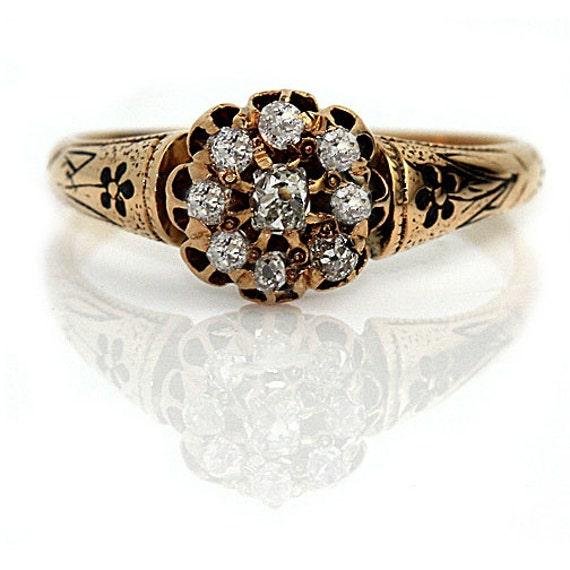antique engagement ring 55ctw 14k gold promise