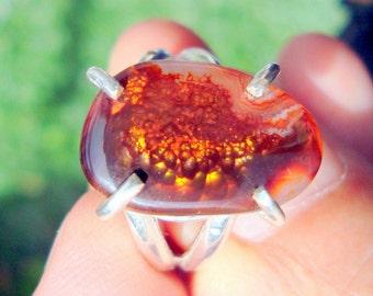 fire agate ring fire agate jewelry