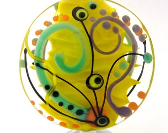 Beautiful Day - Handmade Lampwork Glass Bead by Anne Schelling, SRA