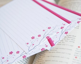 Cherry Blossom Recipe Cards