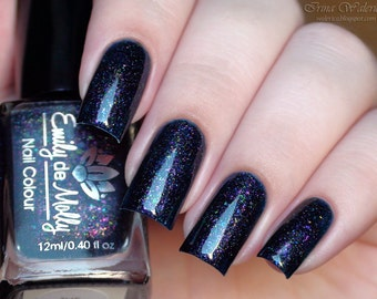 "Nail polish - ""The Rapture"" multichrome flakies in a dark navy base"