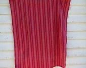 Vintage French Ticking - Red and Faded Raspberry Stripes
