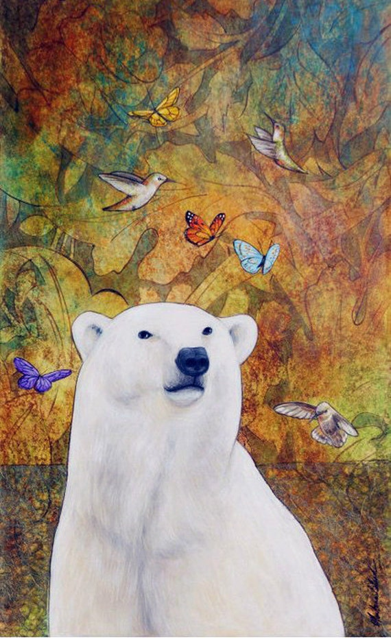 Polar Bear Dream Art Print 16 x 20
