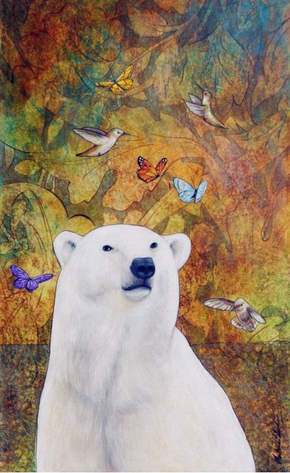 Polar Bear Dream Art Print 16 x 20