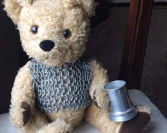 Sir Knight Teddy chain mail & mug