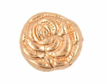 Rose Bloom Copper Metal Rivet Sets - 0.31 inch - 10 pieces
