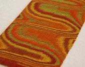 "Table Runner, Modern Textile Weaving, Southwestern Decor, Red & Yellow - 13"" x 45"""