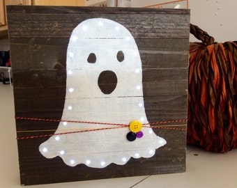 Boo Ghost Pallet HoliDaY light Up Wood Pallet Sign