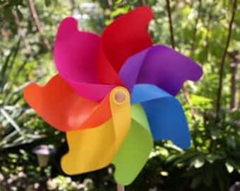 Pinwheels Rainbow Favors Rainbow Birthday Party Favors Set of 2 Rainbow Pinwheels Birthday Favors Party Decoration Garden Art