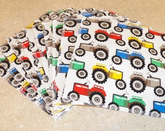 Cloth Wipes- Tractors- Set of 11- 15009