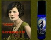 1922  Perfume Oil - Flapper Perfume - Sweet Tobacco, Gardenia, Wood, Musk, Bourbon Whiskey, Berries - Roaring Twenties Perfume
