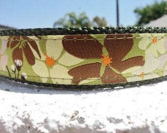 "Sale Large Dog Collar 1.5"" width Side Release Buckle adjustable Maui - no martingale"