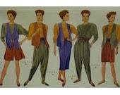 """Low-Crotch Pants Pattern, Plus Size, Mock Wrap Skirt, Long Vest, T-Shirt, Knee Shorts, Butterick No.5071 UNCUT Size 16-18, 20-22 Bust 38-44"""""""