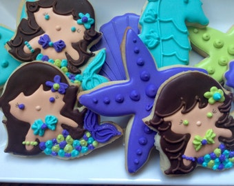 Mermaid Under the Sea Sugar Cookie Collection